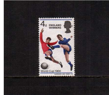 view larger image for SG 700 (1966) - 4d World Cup Football 'ENGLAND