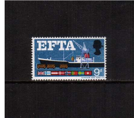 view larger image for SG 715 (1967) - 9d European Free Trade Association <