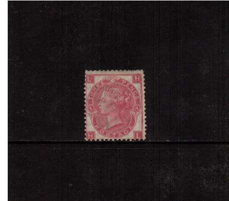 view larger image for SG 103 (1867) - 3d Rose - Watermark Spray  - from Plate 4 lettered 'H-L'<br/>An unused condition stamp with some gum.<br/>The stamp has several nibbled perforations but is scarce.<br/>