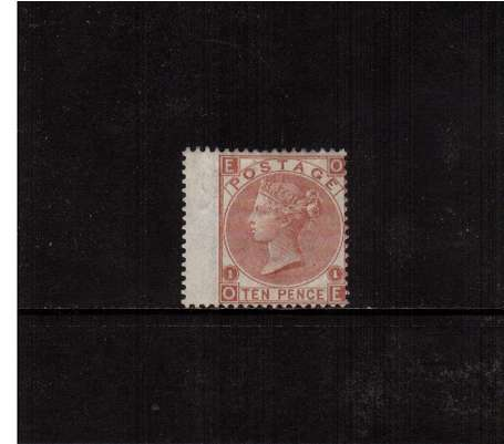 view larger image for SG 113 (1867) - 10d Pale Red Brown - Watermark Spray of Rose - lettered 'O-E'.<br/>A fine lightly mounted mint stamp bright and fresh.<br/>