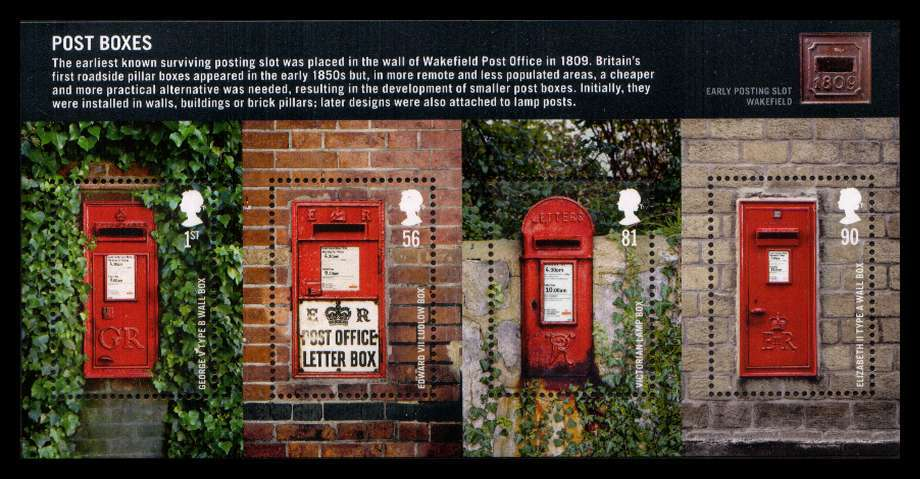 view larger image for SG MS2954 (18 Aug 2009) - Post Boxes - 1st Series<br/>