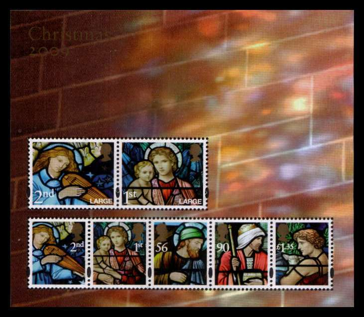 view larger image for SG MS2998 (3 Nov 2009) - Christmas - Stained Glass Windows<br/>minisheet