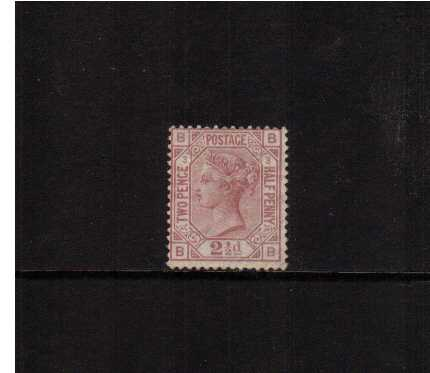 view larger image for SG 141 (1876) - 2�d Rosy Mauve from Plate 3 lettered 'B-B' watermark Orb. A lightly mounted mint stamp with full original gum. SG Cat �950