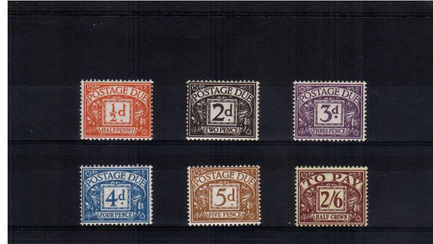 view larger image for SG D40-D45 (1954) - Tudor Crown watermark set of six superb unmounted mint.