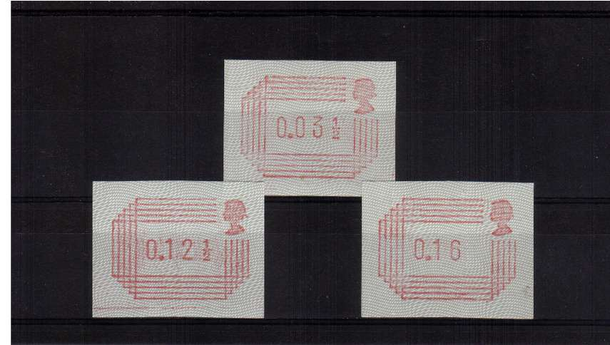 view larger image for SG mentioned (1984) - 3�p-16p Superb unmounted mint set of three