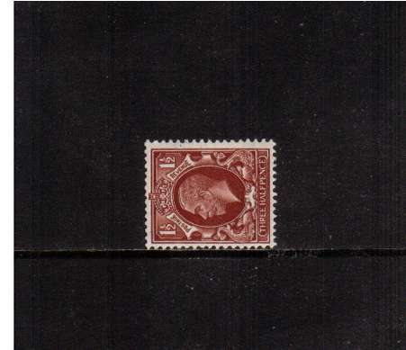 view larger image for SG 441d (1934) - 1�d Red-Brown with WATERMARK SIDEWAYS